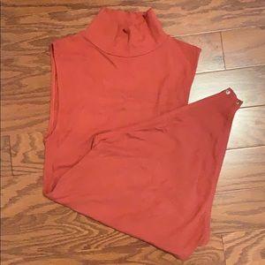 Burn orange Gianni Bini bodysuit